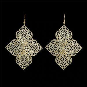 New BOHO filigree gold tone earrings